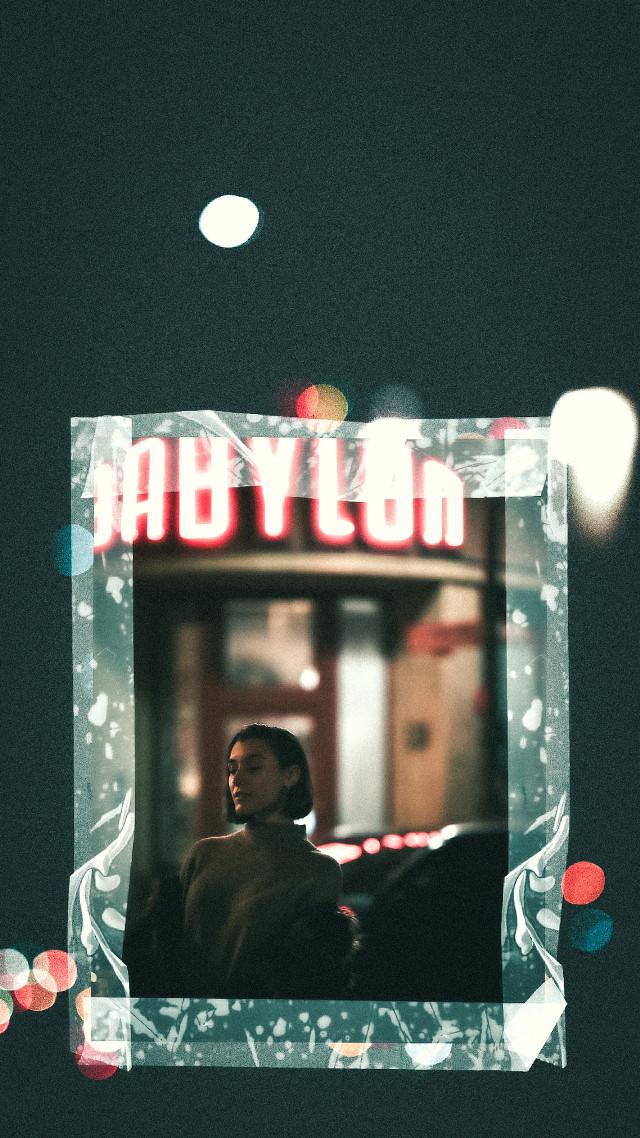 #portrait #babylon #cinematic #film #35mm #port #berlin #germany #night #nightlife #nightshot #interesting #girl #lights #bokeh #madewithpicsart #editwithpicsart #photography #cinema #old  #freetoedit