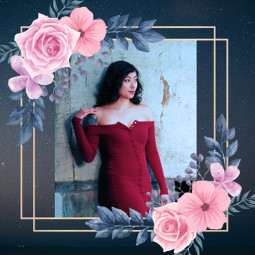freetoedit portrait flowerframe