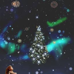 merrychristmas christmastree girlwatching madewithpicsart editedbyme freetoedit