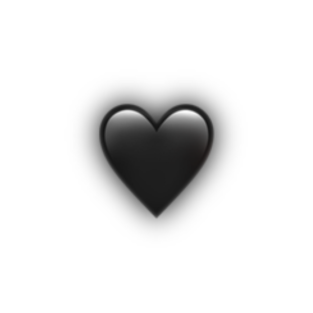 #heart #black #emoji #iphoneemoji #apple #shadow #freetoedit