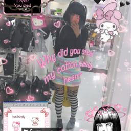 kawaii edgy goth punk freetoedit