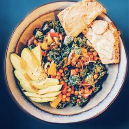 salad vegan healthyliving kale bowlfood