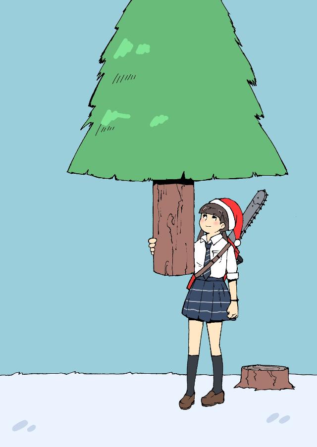🎅🎄✨ #freetoedit #drawing #girl #christmastrees