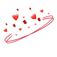 background red flower neonhearts heart freetoedit