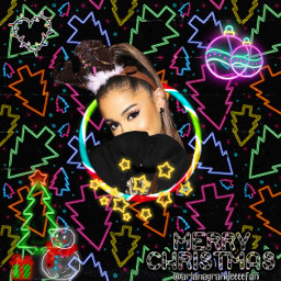 freetoedit arianagrande neoneffect ariana grande fcholidaymood holidaymood