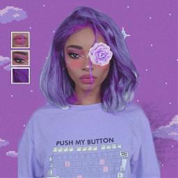 freetoedit girl prettygirl purple pastelpurple freetoeditremix
