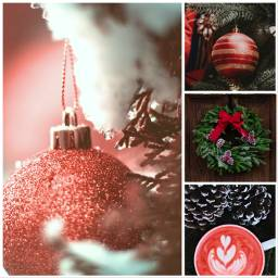 christmas winter aestethic moodboard red freetoedit