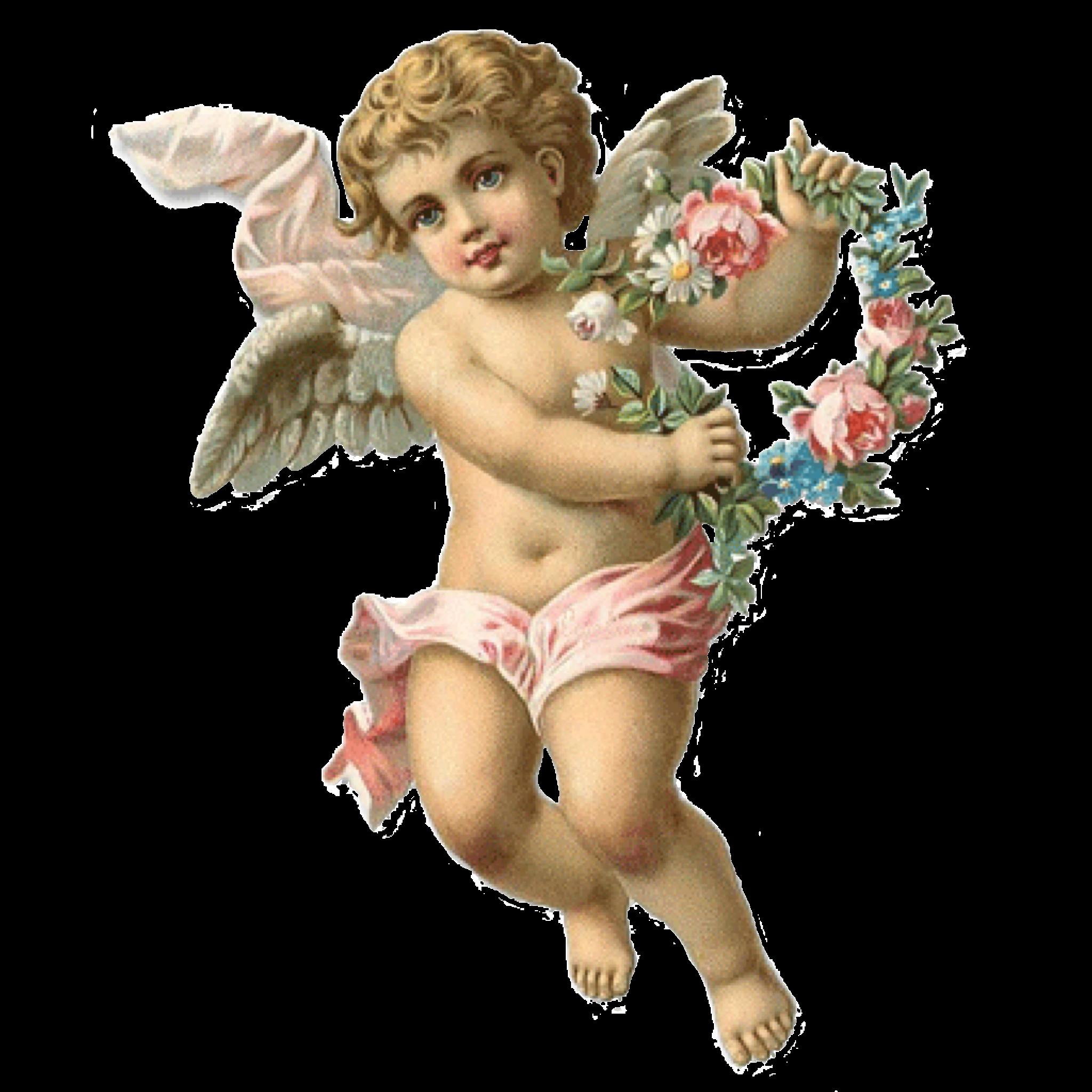 Ангелочек без фона картинка