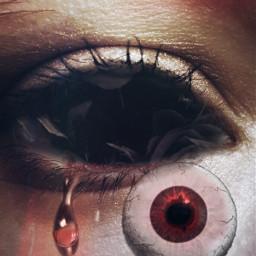 freetoedit redeye eyeball darkaesthetic interesting