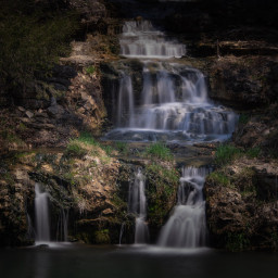 landscape waterfall beautiful nature longexposure