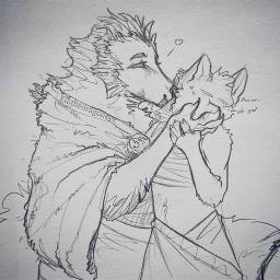 drawing traditional anthro furry