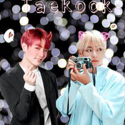 freetoedit love taekook vkook cute
