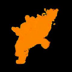 orange smoke effect overlay freetoedit