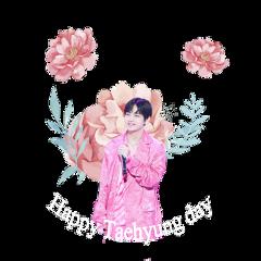 happytaehyungday happytaehyungdaysticker sticker bts taehyung freetoedit