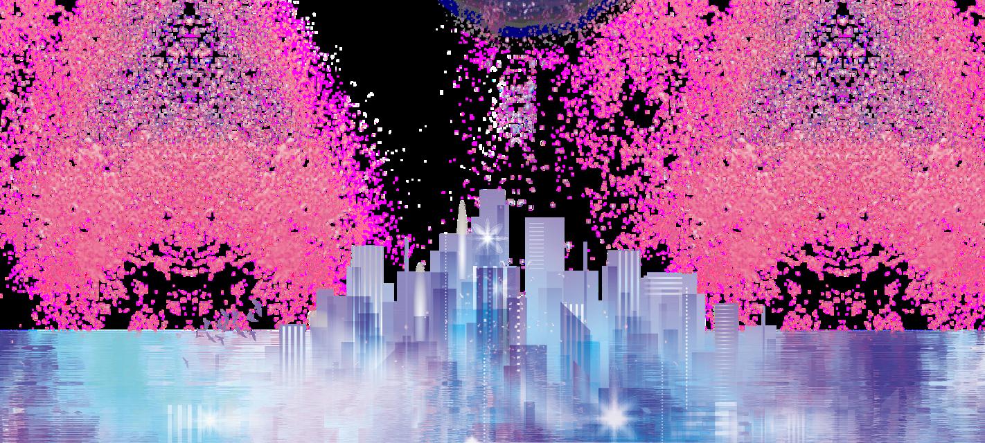 #ftestickers #fantasyart #city #cityview #citylights #aesthetic #holographic