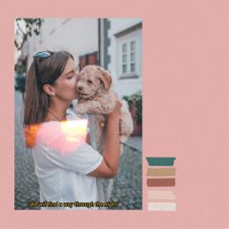 puppy girl dog poland pink freetoedit