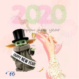 freetoedit babyyoda newyear newyears champagne irccelebration celebration