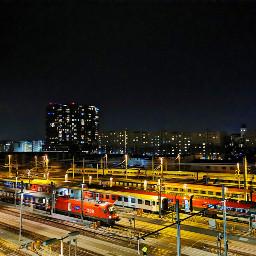 trainstation city night nightlights freetoedit