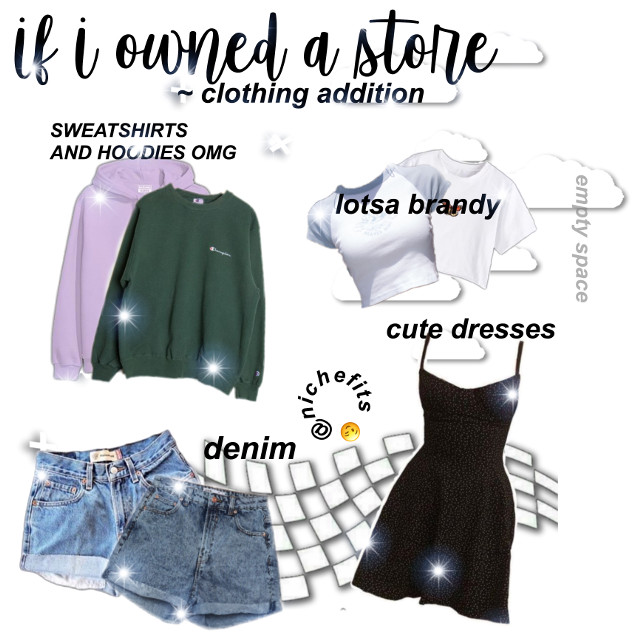you got a notification! 📬  open it? 💌 yes|no 🔑 yes? ☺️  hi! welcome to the niche meme! 🥳 title: if i owned a store: clothing addition! (pt.3) apps used: pa, phonto  info about me! 🤗 followers: 32! 🥳 goal: 45 🤩 mood: 😁😌 weather: ☁️🌧  taglist:  @glossyypngs  @sxnny_niches  @strawberrysailor @okehboiis @holymemesforu @11_things_stranger @starly_niche  comment '💫' to join the taglist comment '🪐' to leave the taglist tell me if you change your user!  my message: hello lovelies! contest is still up, join while you can 😉  happy scrolling! 🌝 #freetoedit
