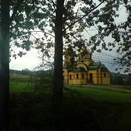 goldenchurch gold church nature poland