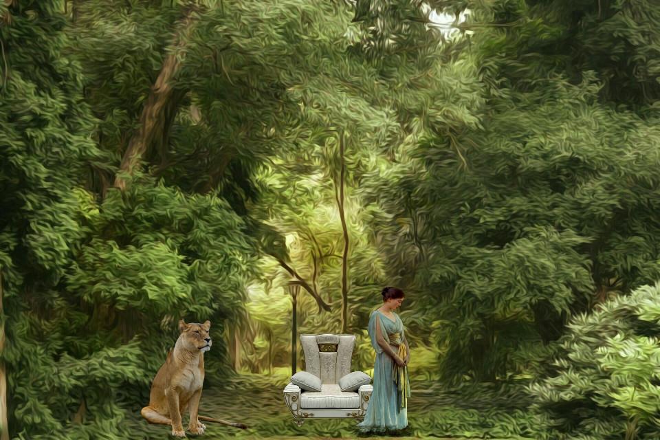 #surrealart #surrealism #surrealismstyle #dreamlikestyle #mysticalenvironment #oilpaintingeffect #surrealenvironment #magicalgarden