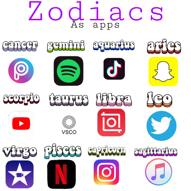 #zodiacs #apps  #freetoedit
