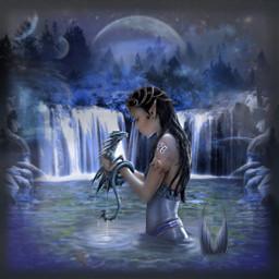 freetoedit mermaid waterfall