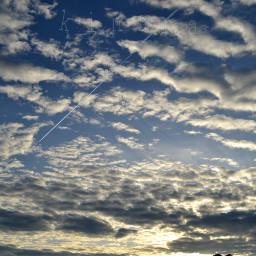 thesky clouds bluesky beautiful kinora