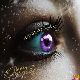 freetoedit christmas eyes viola