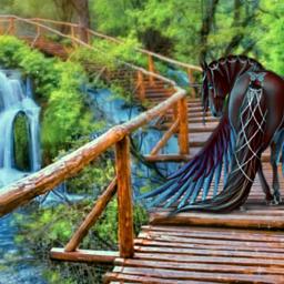 freetoedit pegasus unicorn fantasy waterfall
