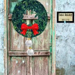 freetoedit wreath ircholidaywallpaper holidaywallpaper