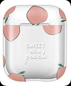 peach fruit airpods vsco freetoedit