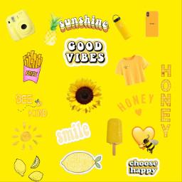 freetoedit yellowaesthetic honey