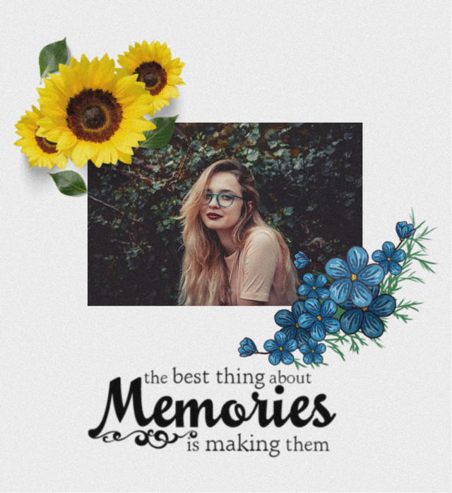 #freetoedit #sunflowers🌻💛🌻 #blueflowers #memoriesforever #beautifulpicture
