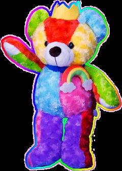 png bear cute overlay rainbow freetoedit