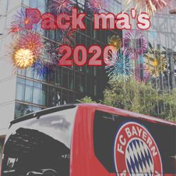 fcbayern fcbayernm firework bus red fcb freetoedit