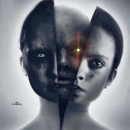 freetoedit darkart darkness doublexposure remixit
