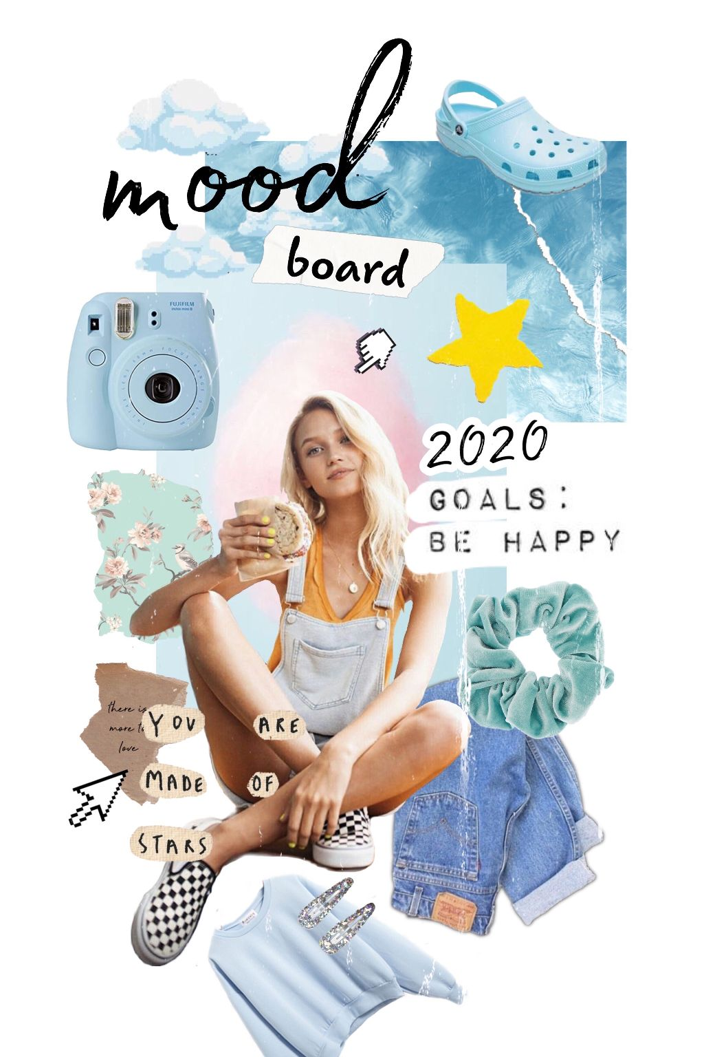 Here's to new beginings ✨ Set up new goals and resolutions by creating a 2020 mood board bit.ly/MoodBoard2020 #moodboard #2020 #vision #goals #freetoedit