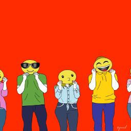 freetoedit happy emoji happyemoji faces