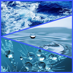 freetoedit collage water oceanwaves dropsofwater ccblueaesthetic blueaesthetic