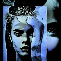 blue fantasyart faceart madewithpicsart picsarttools freetoedit