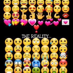 freetoedit resolutions/reality fun statement emojis