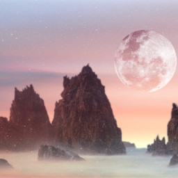 freetoedit moon mystical softcolors dustmask