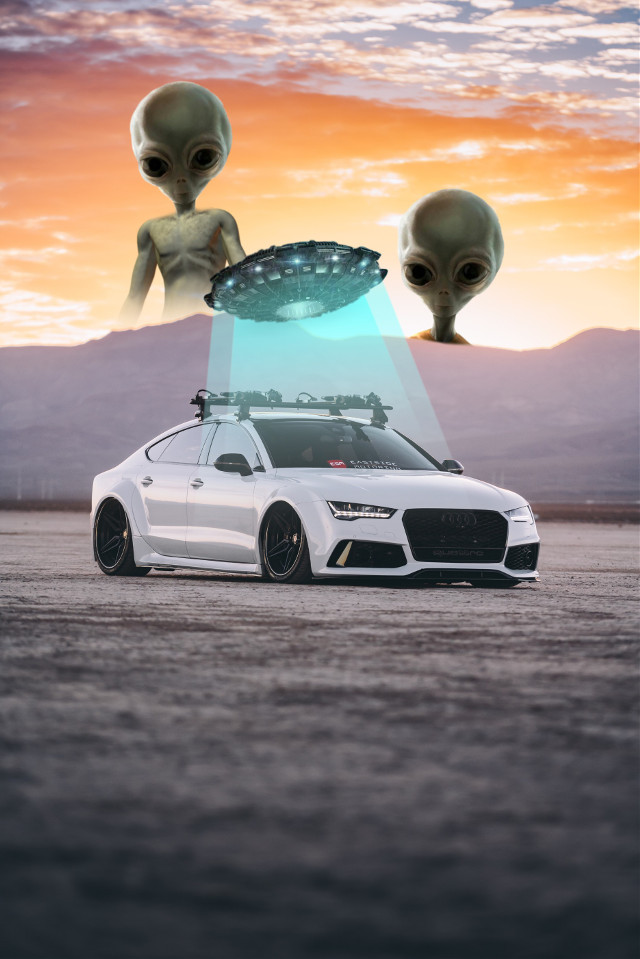 #freetoedit #alien #car #capture #attack #space #scifi #extraterrestrial