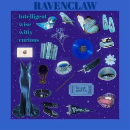 moodboard moodboardaesthetic ravenclaw harrypotter blue