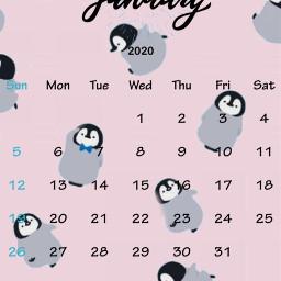 freetoedit конкурс penguin january 2020 srcjanuarycalendar januarycalendar