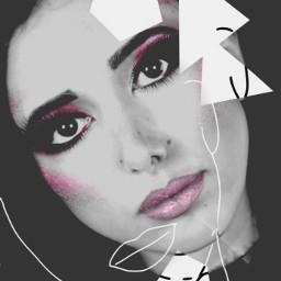 freetoedit myedit girl makeup sketcheffect