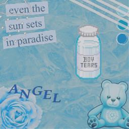 freetoedit blue blueaesthetic teddybear pastel