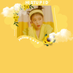 iu leejieun wallpaper yellow freetoedit
