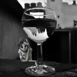 freetoedit blackandwhitephotography glassart gorillaz eclecticartist eclecticart